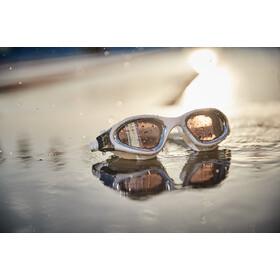 Zone3 Vapour Gafas Natación Polarizadas, polarized lens-white/silver